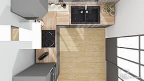 Modeles Plans Cuisines 3d Exemples De Configurations Kozikaza